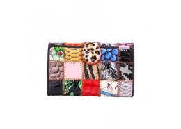 Patchwork Squares Medium Leather Wallet Patchwork Squares Flap leather wallet which folds open 10 card holders 3 open pockets 1 zip pocket  1 window Eve. Please Click the image for more information.