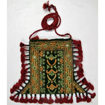 Indian Tribal Embroidered Bag Hand embroidered silk handbag from Gujarat India  The bag is hand embroidered in silk thread on both sides incorporating small mirrors I. Please Click the image for more information.