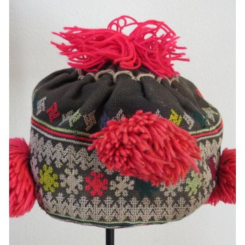 Yao Child's hat This childs hat is from the Yao hill tribe group in Laos  This  hat is made from cotton fabric finely embroidered and  neatly stitched by hand  T. Please Click the image for more information.