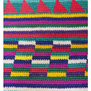 Guatemalan vintage  bag with geometric design Colourful vintage handmade bag from Guatemala in geometric design  Very strong and ready for use37 x 33 cm plus handle Please Click the image for more information.