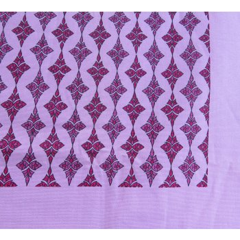 Pink diamond pattern block printed tablecloth - square  Please Click the image for more information.
