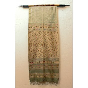 Laos silk weaving with Naga design Hand loomed silk panel with Naga design for use as a wall hanging or throw to add richness and style  your home. Please Click the image for more information.